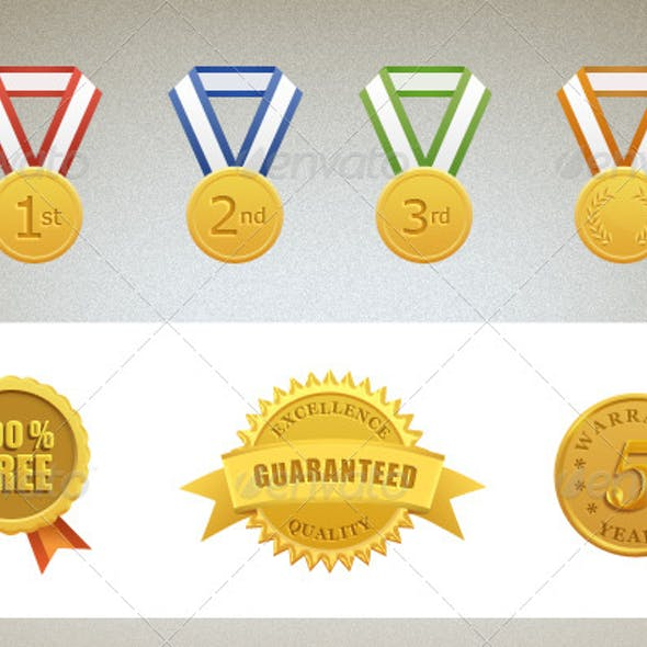 Guarantee and Warranty Gold Seal and Medals