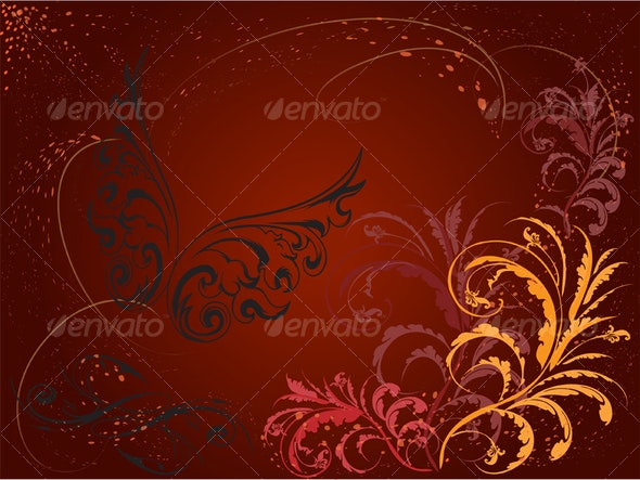 Curls Background 3 - Backgrounds Decorative