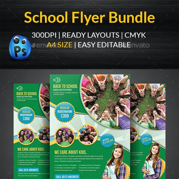 School Education Flyer Bundle