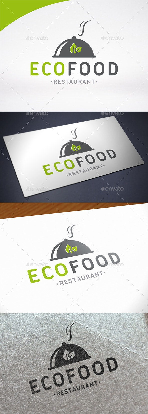 Eco Restaurant Logo Template - Restaurant Logo Templates