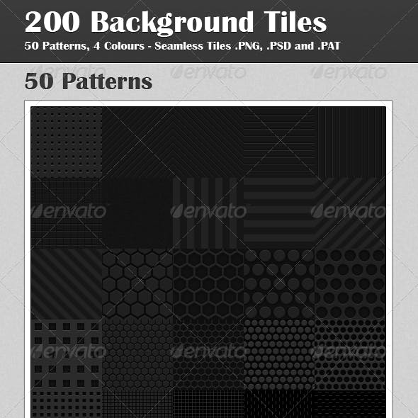 Seamless Tiles: 50 Patterns, 4 Colours