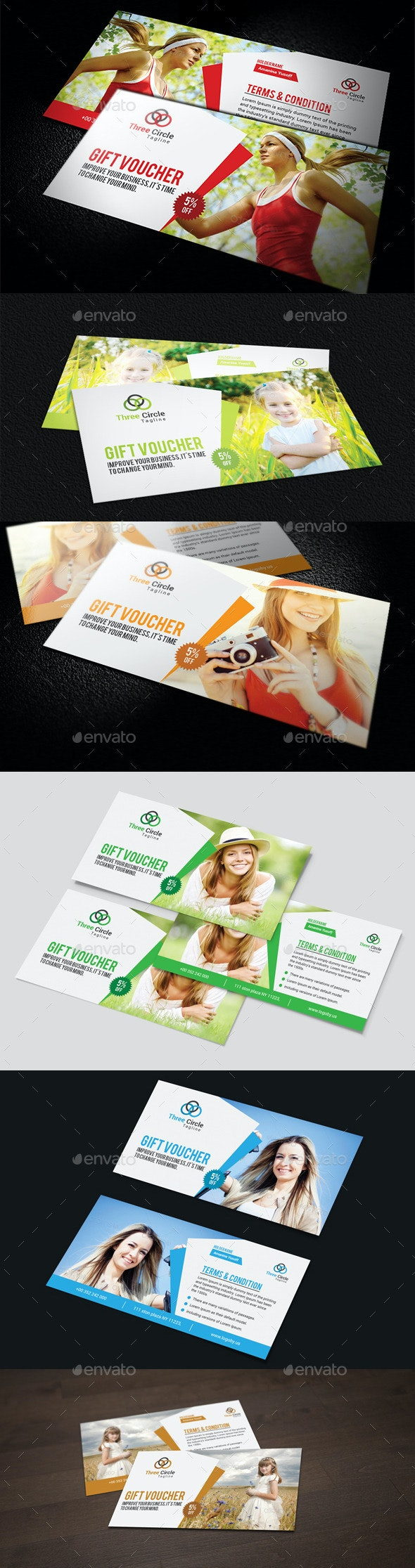 Gift Vouchers Template - Cards & Invites Print Templates