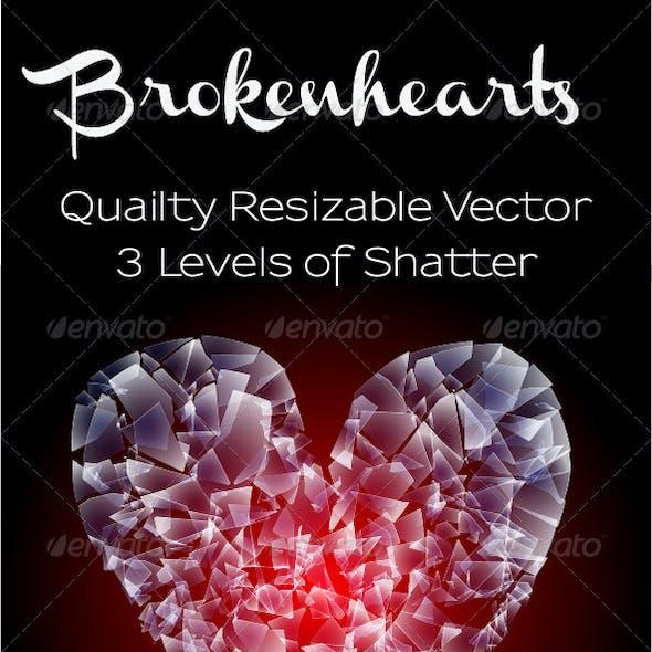 Shattered Heart Vector