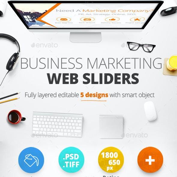 Business Marketing Web Sliders 5 designs