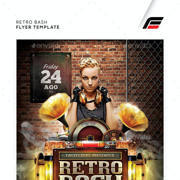 Retro Bash Flyer Template