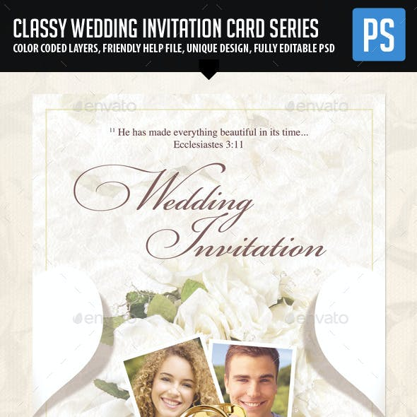 Classy Wedding Invitation 02