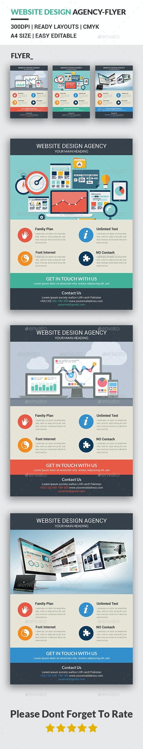 Website Design Agency Flyer Template - Corporate Flyers