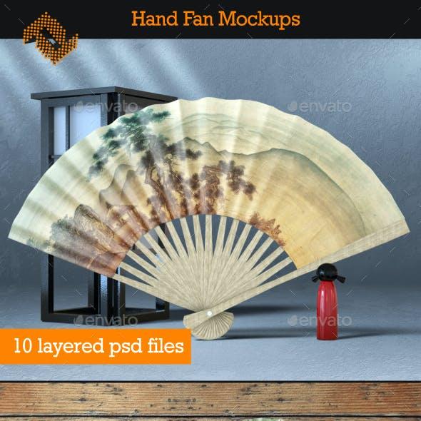 4 Hand Fan Mockups