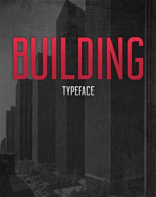 BUILDING Typeface - Font - Condensed Sans-Serif