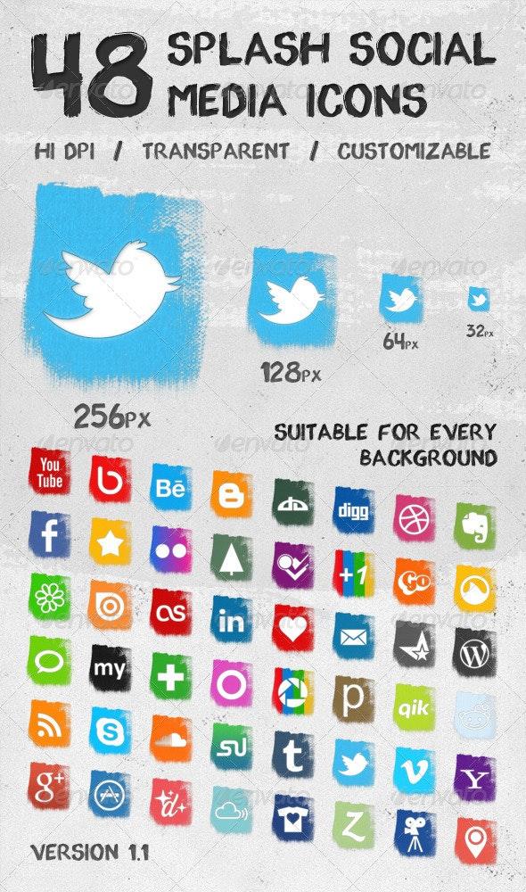 Splash Social Media Icons - Web Icons