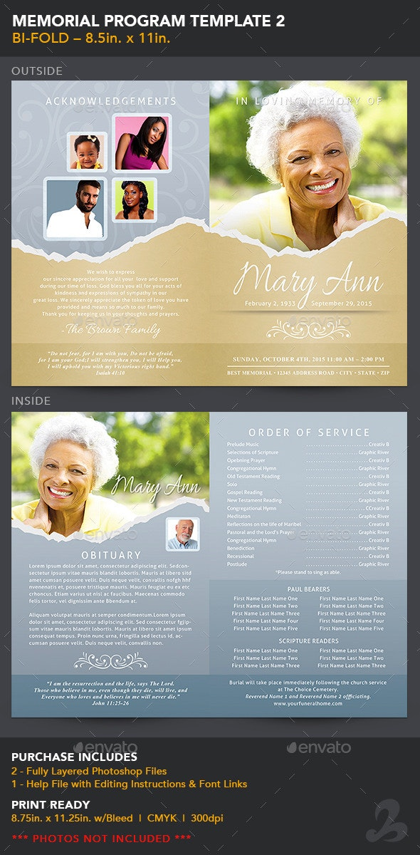 Memorial Program Template 2 - Informational Brochures