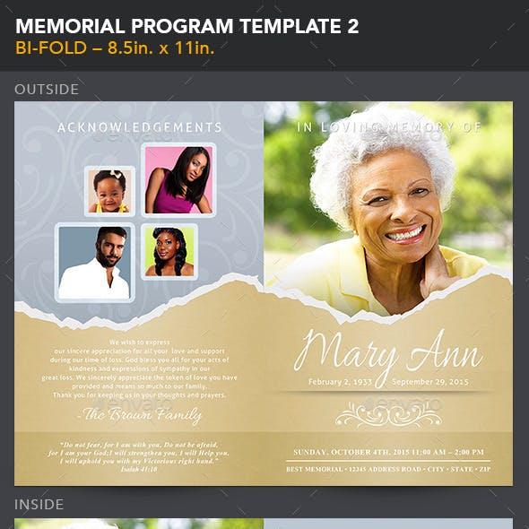Memorial Program Template 2