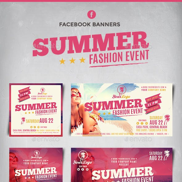 Facebook Banners - Summer Fashion Event