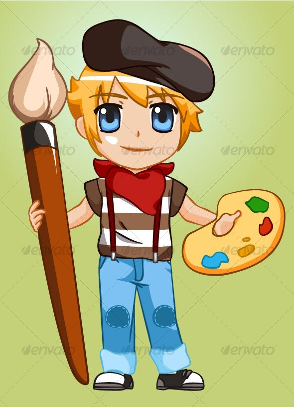 Painter Boy - People Characters