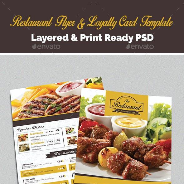 Restaurant Flyer & Loyalty Card Template