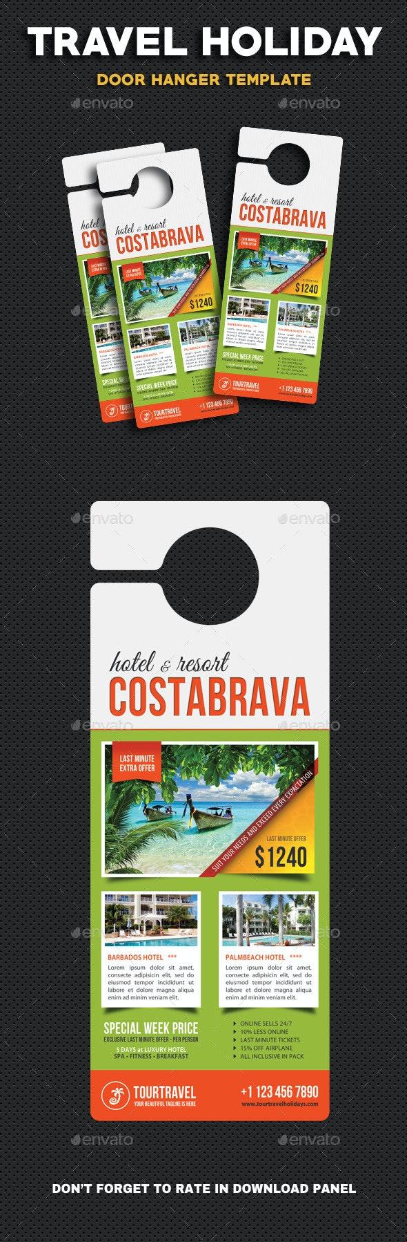 Travel Holiday Door Hanger V4 - Miscellaneous Print Templates