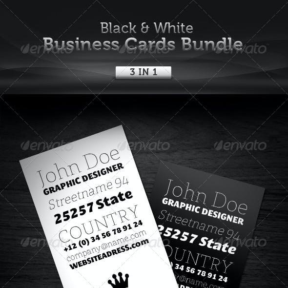 Black & White Business Cards Bundle