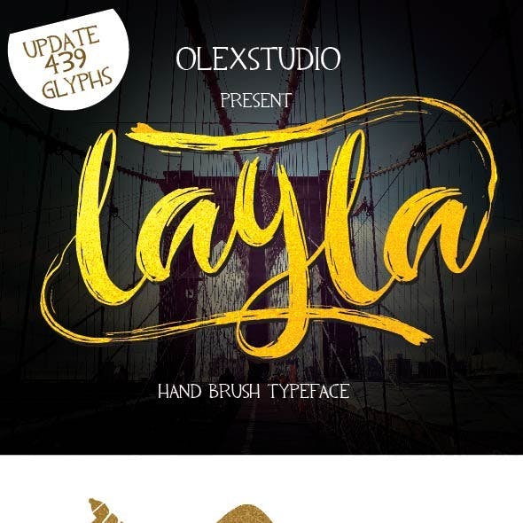 LAYLA Brush typeface (UPDATE)