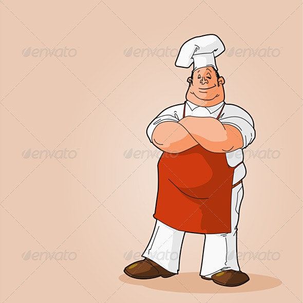 Potrait of a Chef Clip Art - People Characters