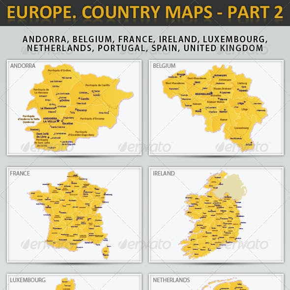 Europe. Country maps - part 2