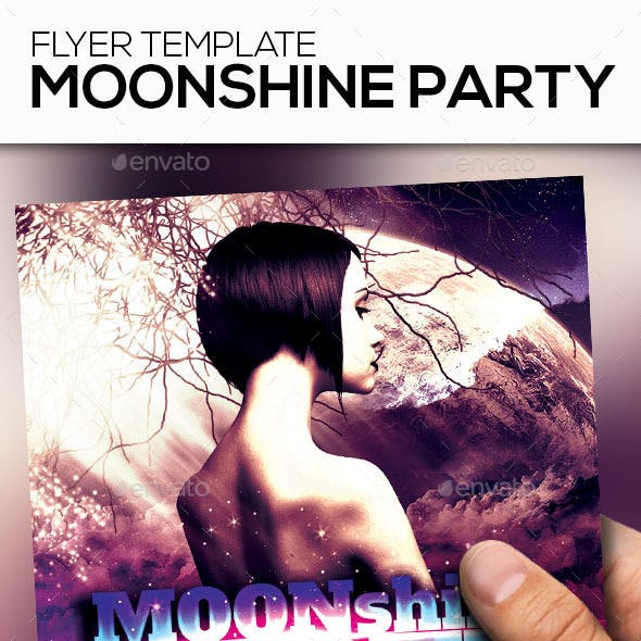 Moonshine Party Club Flyer Template