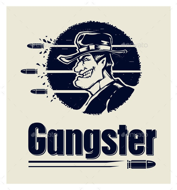 Gangster Logo - People Characters