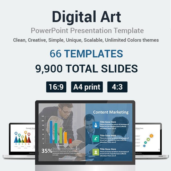 Digital Art  PowerPoint Presentation Template
