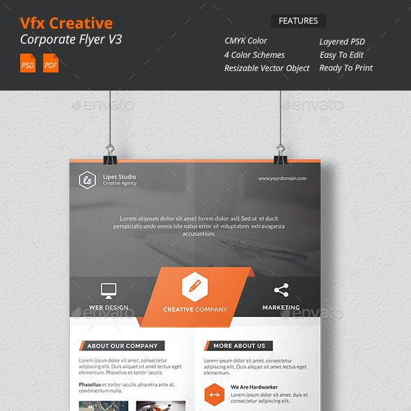 Vfx - Creative Corporate Flyer v3