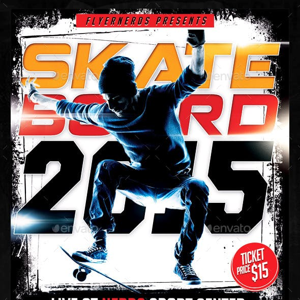 Skateboard Championships Sports Flyer