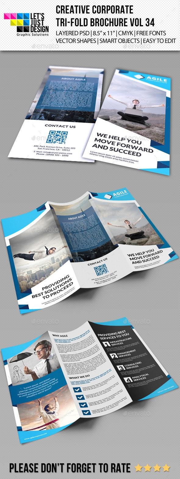 Creative Corporate Tri-Fold Brochure Vol 34 - Corporate Brochures