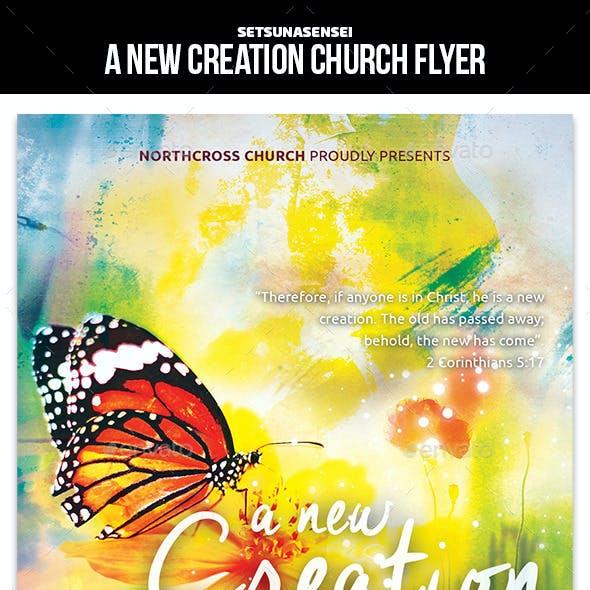 A New Creation Church Flyer