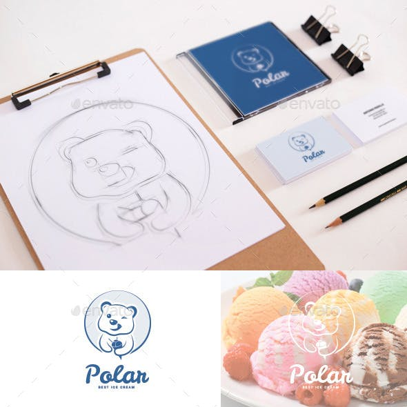 Polar Bear Ice Cream Logo