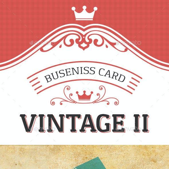 Vintage II Business Card Template