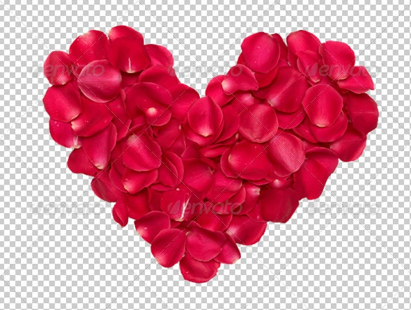 Rose Heart Petals - Miscellaneous Isolated Objects