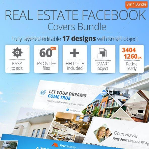 Real Estate Facebook Cover Bundle 17 Designs