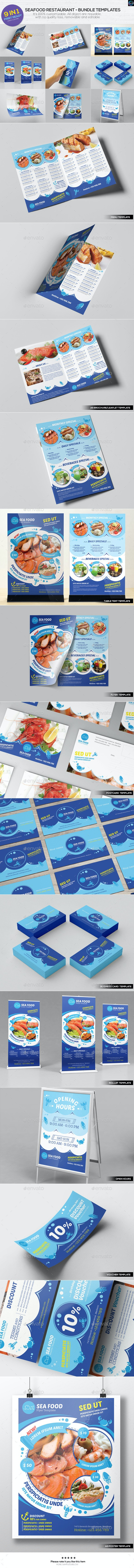 Seafood Restaurant - Bundle Templates - Food Menus Print Templates