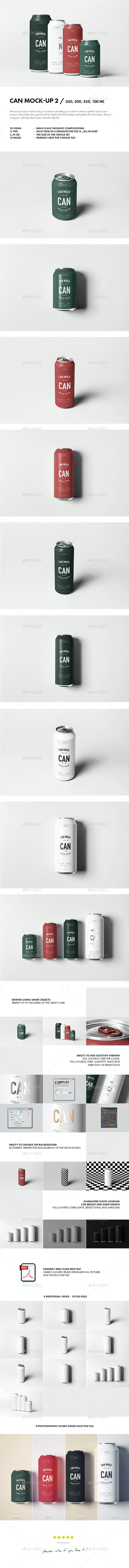 Can Mock-up 2 - Food and Drink Packaging