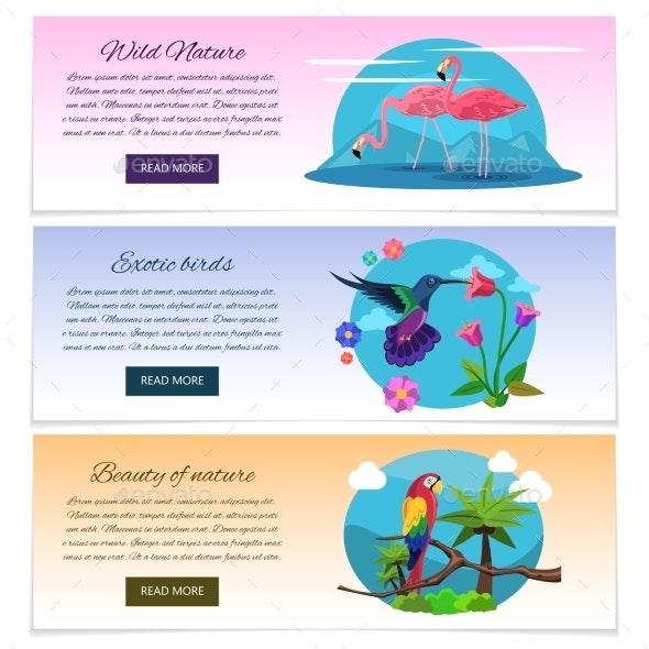 Bird Banner Horizontal - Animals Characters