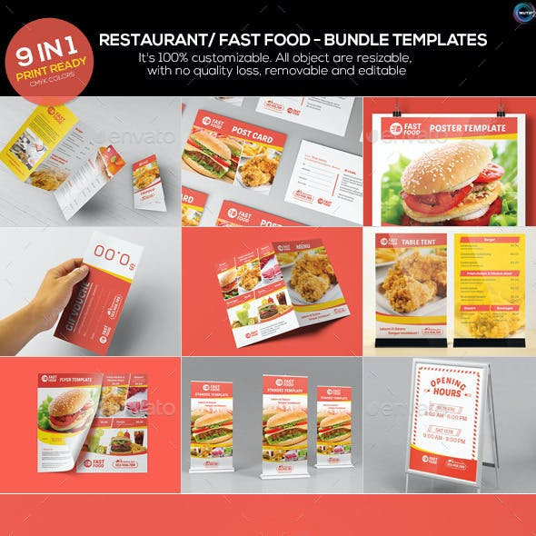 Restaurant/ Fast Food Bundle Templates