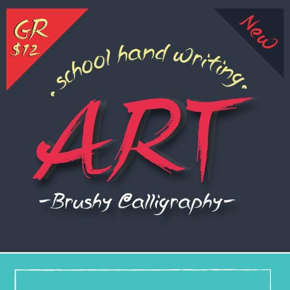 Brushy Calligraphy