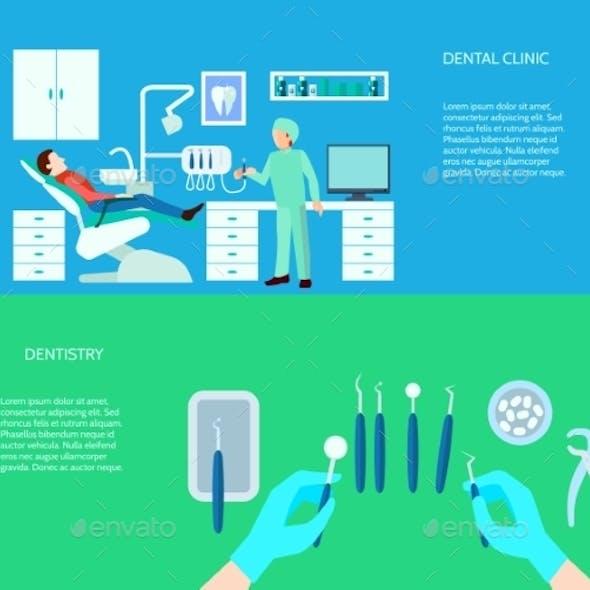 Dental Clinic Banner Set