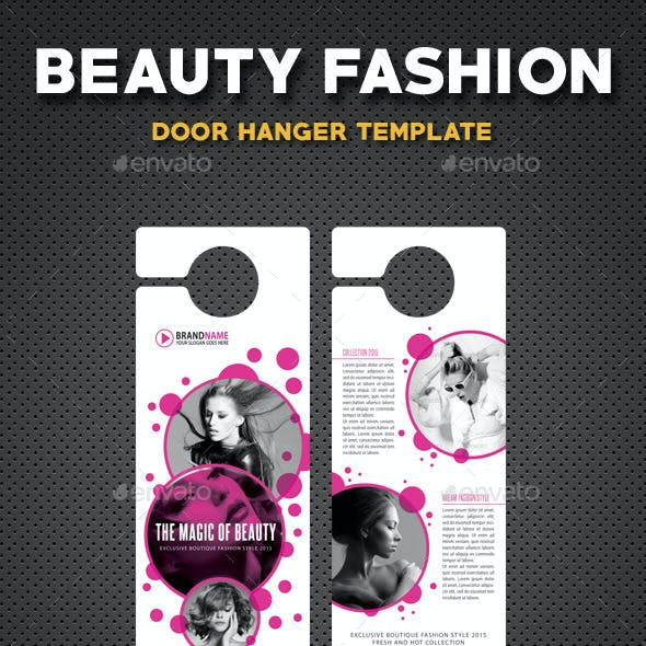 Beauty Fashion Door Hanger V1