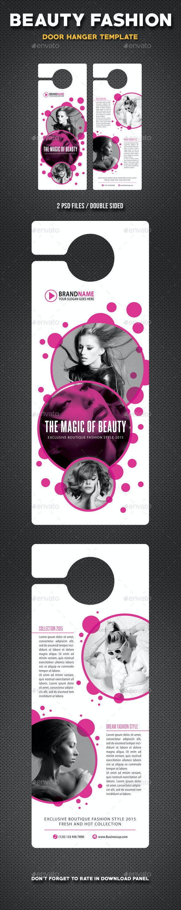 Beauty Fashion Door Hanger V1 - Miscellaneous Print Templates