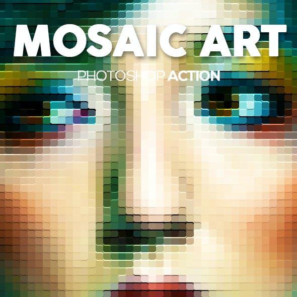 Mosaic Art Photoshop Action