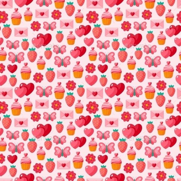 Valentine Seamless Vintage Pattern.