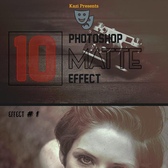 Photoshop Matte Effect