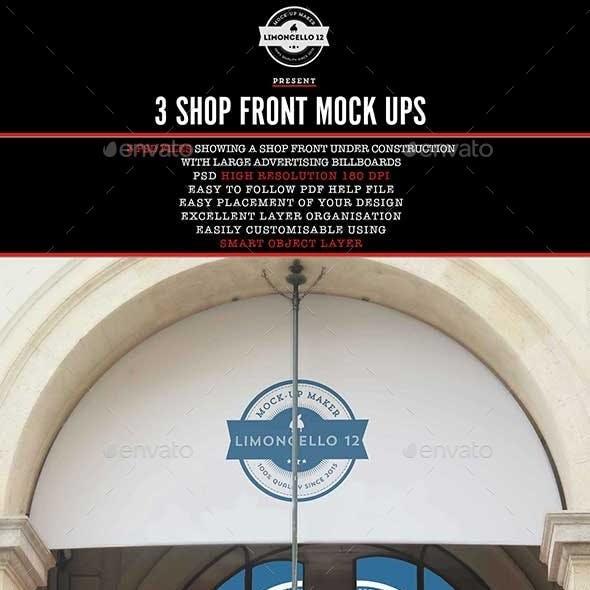 Shop Front Billboard Mockup