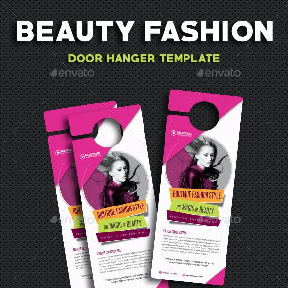 Beauty Fashion Door Hanger V2