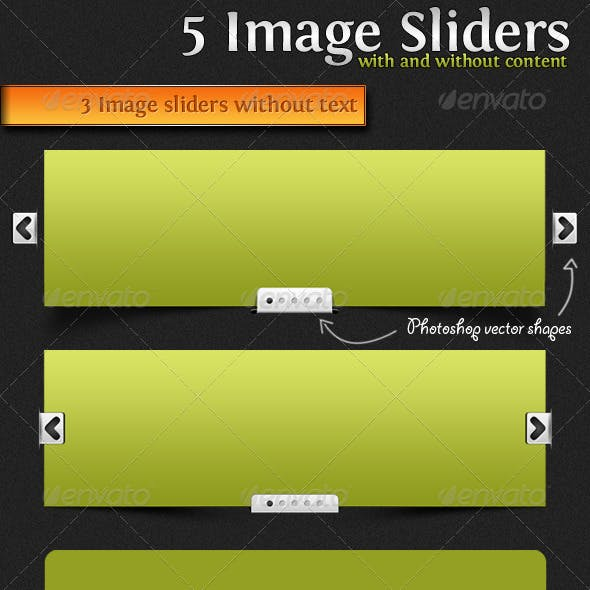 5 Image Sliders