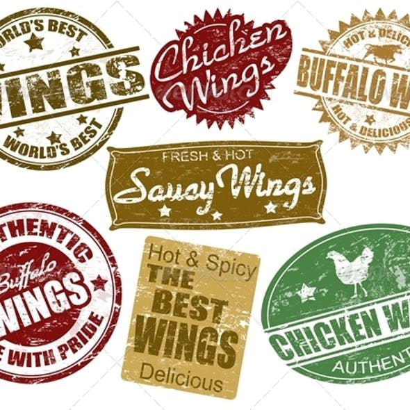 Set of wings stamp